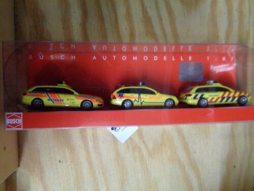 H0 1:87 Busch 89003 Notarztfahrzeuge-Set FERTIGMODELL.OVP