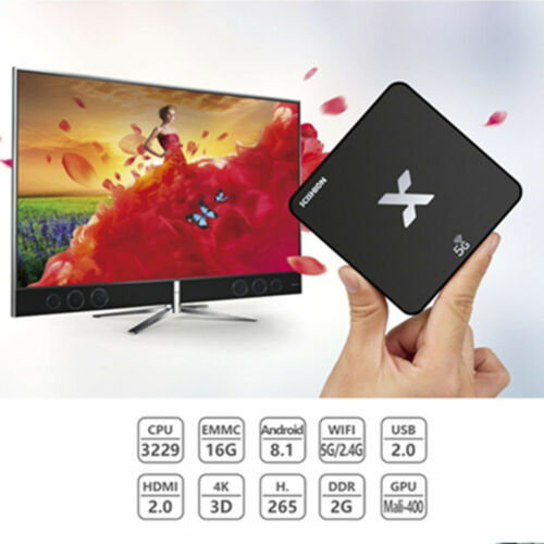 SCISHION Android 8.1 2GB//16GB TV Box 4K HD 5GHz WiFi 100Mbps Ethernet H.265 Box