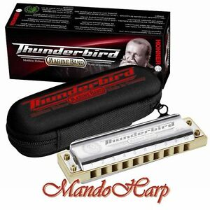 Hohner-Harmonica-2011-20-Marine-Band-Thunderbird-SELECT-KEY-NEW