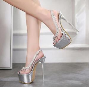 Womens Stiletto Heels Platform Peep Toe