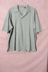 S6479-Ben-Hogan-Seven-Cedars-Casino-Men-039-s-XL-Green-Short-Sleeve-Polo