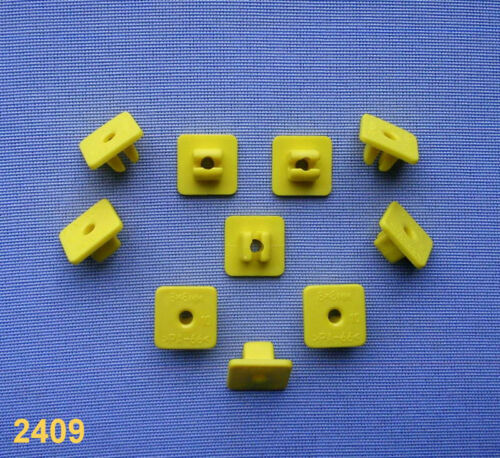 10x Carénage Clips Fixation Colliers Support Clip Universel 8,2 mm Jaune 58d
