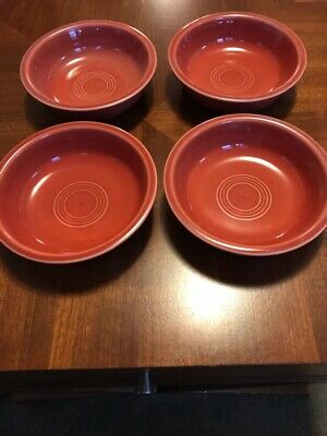 Fiestaware Paprika Medium Bowl Fiesta Retired Burnt Orange 19 oz Cereal Bowl