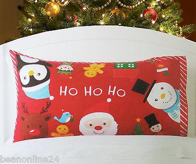 Christmas Pillow Case Fabric Cloth Printed 74 x 48cm