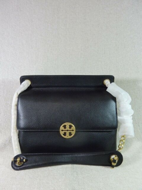 b611936eb4e2 Tory Burch Chelsea Flap Shoulder Bag in Black for sale online