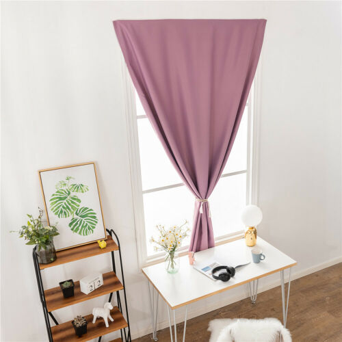 Stick-on Curtain Bedroom Living Room Blockout Drape Blind Home Window Decors
