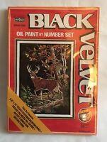 Craft House Black Velvet Oil Paint By Number Set Autumn Beauty 23483 Deer