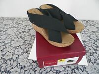 Merona,wedge,slide,sandal, Shoe, Size 6.5 ,women Black,dress,casual
