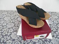 Merona,wedge,slide,sandal, Shoe, Size 6.5 ,women Black,dress,casual