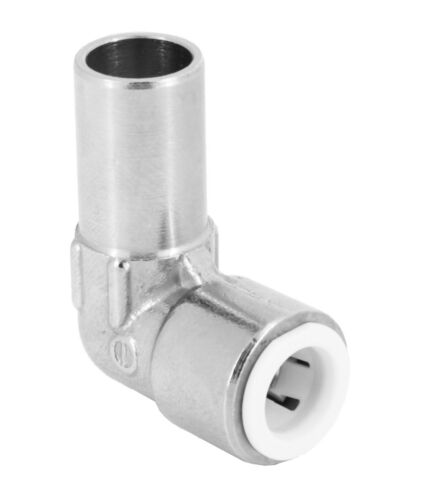 15mm-10mm Pushfit Radiator Valve Chrome Reducing Speedfit Elbow fitting