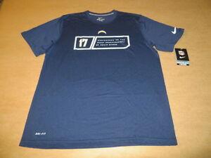 San Diego Chargers NFL   17 Philip Rivers Men s Nike DRI FIT T-Shirt ... 4d0e21aa1