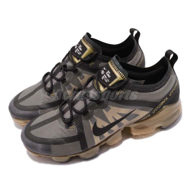 new concept eadcb 8d811 Nike Air Vapormax 2019 Black Gold Max Mens Running Shoes Sneakers AR6631-002