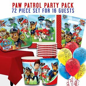 Image Is Loading Party Supplies Birthday Decorations Paw Patrol Packs