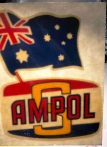 Genuine-1960-039-S-AMPOL-S-Australian-Service-Station-Window-Decal-EXC