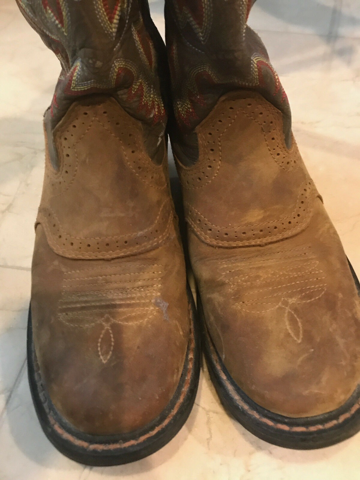Preowned 4 ARIAT Brown Leather  Boots SIZE 4 Preowned  !!!  SG f2204d