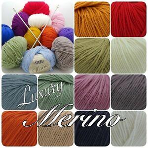 King-Cole-Luxury-Merino-DK-Superwash-Soft-Knitting-Crochet-Yarn-Wool-50g