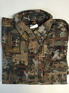 Lapco Heavy Duty Khaki Green Work Shirt 15 X 33/'/' Medium