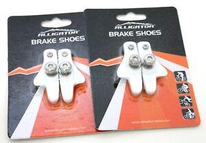 Alligator Road Bicycle Bike brake pads shoes catridge for Shimano White 2 pair