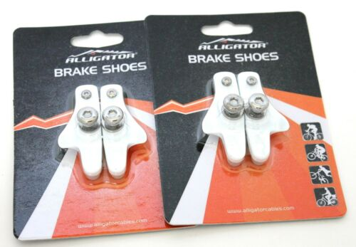 White Alligator Road Bicycle Bike brake pads shoes catridge for Shimano 2 pair