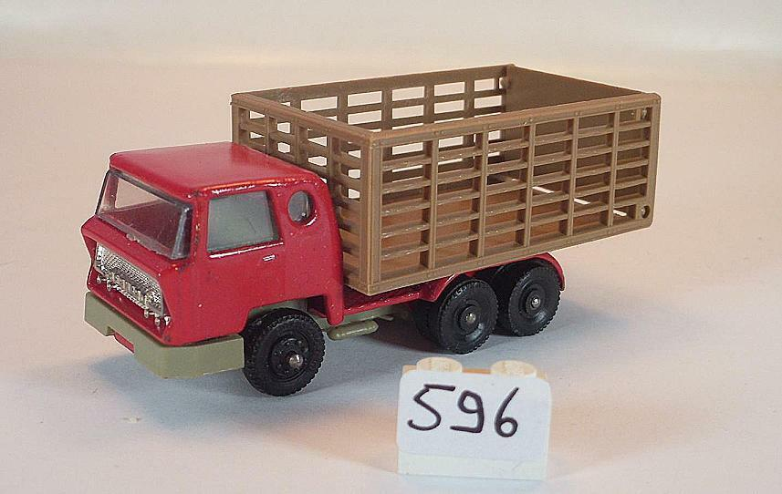 Majorette 1 100 Nr. 219 Bernard LKW Viehtransporter rot braun  596  | Online-verkauf