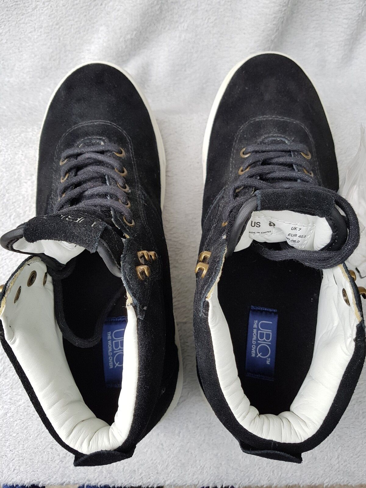 Black Suede Shoes Size 7 / trainers US 8/EUR 40.5  trainers / HI-TOPS UBIQ Volg UNWORN c5da2a