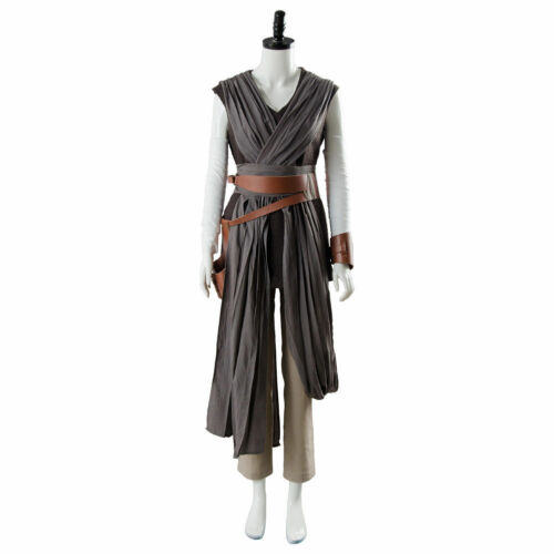 Star Wars 8 The Last Jedi Rey Outfit Ver.2 Cosplay Costume Outfit New Full Set