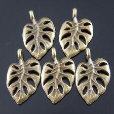 30PCS Rose Golden Tone Alloy Beauty Leaf Pendant Jewelry Charm Hot Sale 37587
