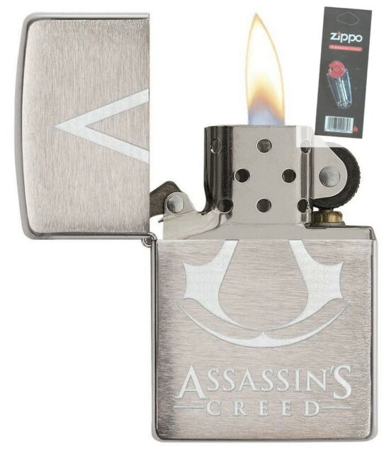 Zippo 29494 Assassins Creed Full Size Brushed Chrome Lighter
