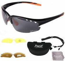 78155f1a1d3 Rapid Eyewear Fusion Black UV Polarised Sports Sunglasses for Men   Women  With
