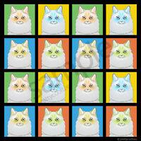Ragamuffin Cat Cartoon Pop-art T-shirt Tee, Men Women's Youth Tank Short Long