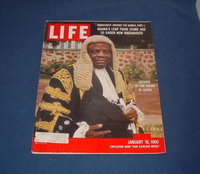 LIFE MAGAZINE JANUARY 18 1960 FIORELLO MUSICAL GHANA SMUGGLING