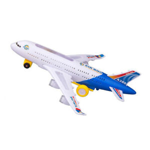 Kids Electric Light Music Airplane Cartoon Airbus A380 747 Bump