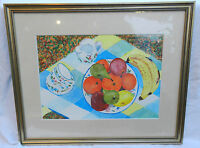 Original Watercolour Painting - Colourful Pop Art Still Life - Signed & Framed