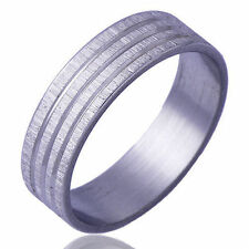 Sports Style Men's Scrub Band Ring White Gold Filled Wedding Rings Size 9