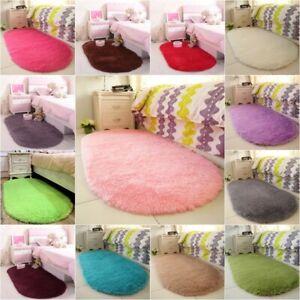 Fluffy-Alfombras-Shaggy-alfombra-antideslizante-alfombra-piso-Mat-Hogar-Comedor-Dormitorio