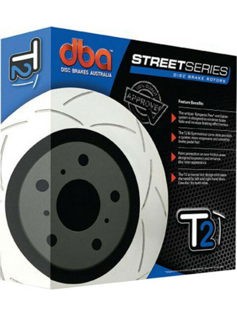 2 x DBA T2 Slotted Rotor FOR AUDI A4 8K2 (DBA2824S)