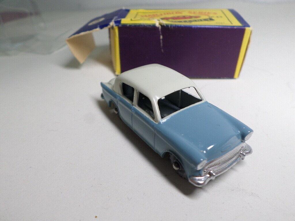 Matchbox 43a Hillman Minx bluee Light Grey (MW) - metal wheels.