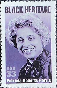 2000 Patricia Roberts Harris auto-adhesivo estampillada sin montar o nunca montada sello de Estados Unidos