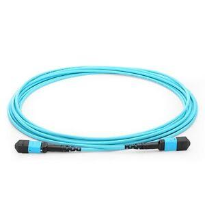 Details about 20M MTP/MPO 10G OM3 50/125 Multimode Fiber Optic Cable,12  Fiber,Polarity B -0970
