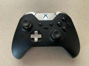 READ Microsoft Xbox One Black Elite Wireless Controller Series 1 MODEL 1698 Tested **Bad USB Port**