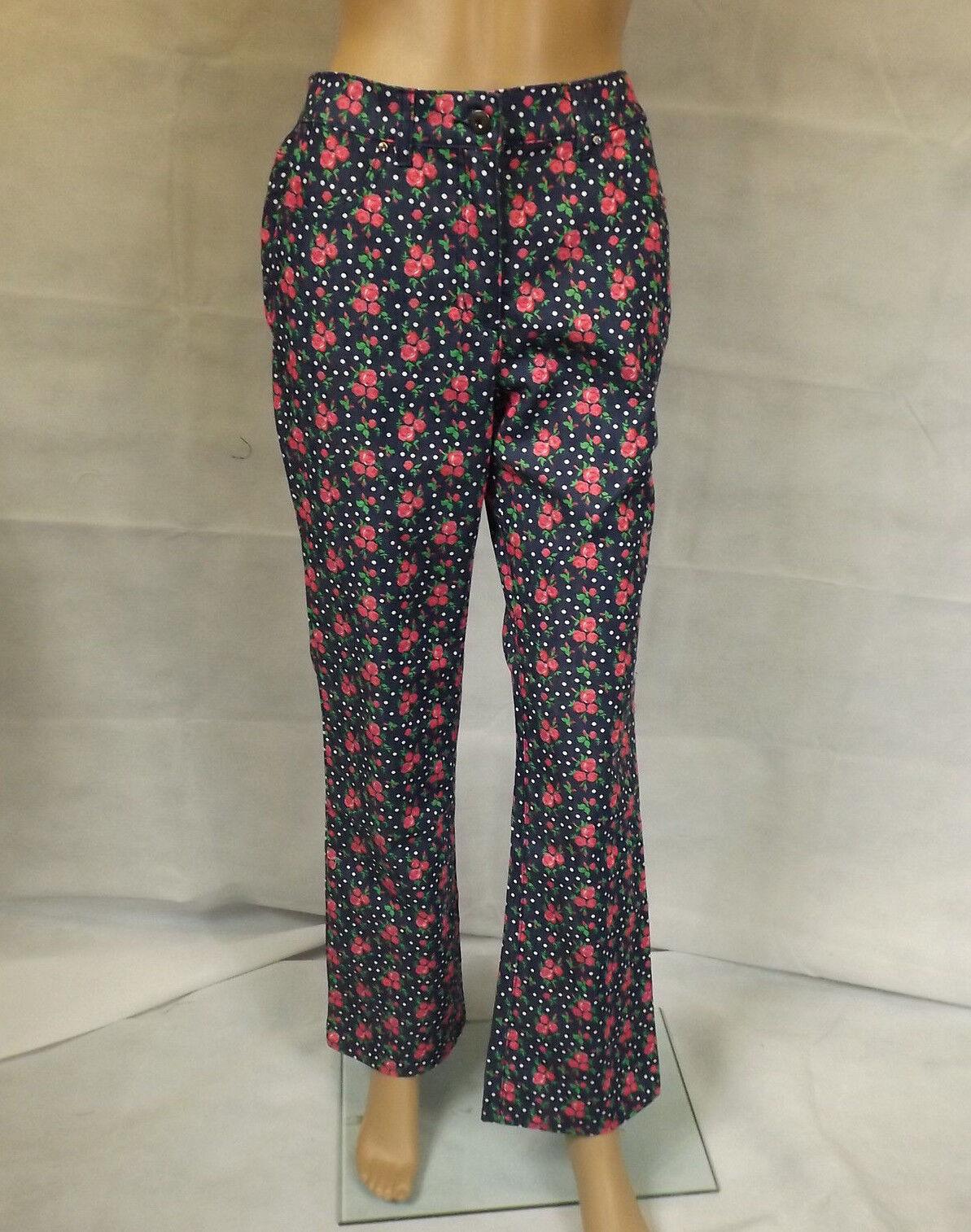 HIMMELBLAU by Lola Paltinger  18     Hippe Jeans m. Rosanprint  Stiefelcut   NEU | Ästhetisches Aussehen  0a7475