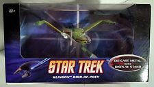 Star Trek Bird-of-Prey Klingon astronave die cast Hot Wheels Mattel RARA 2009