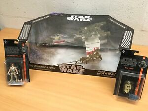 STAR-WARS-SAGA-COLLECTION-DAGOBAH-X-WING-FIGHTER-LUKE-YODA-BLACK-SERIES-BOXED