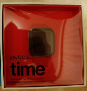NEW-Pebble-Time-Stainless-Steel-Classic-Cherry-Red-Andorid-iOS-Smart-Watch