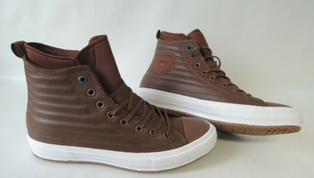 Converse CTAS Waterproof Boot Hi Herren Brown Leder Sneaker 8 UK