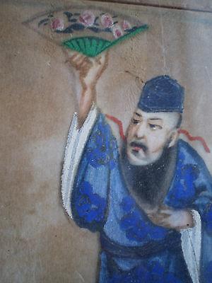 DESSIN PEINTURE CHINE SCENE DECO ART ASIE ANCIEN ANTIQUE CHINEESE PAINTING