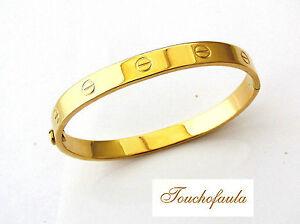 606c063c3 14K YELLOW GOLD LADIES SCREWS CUFF BRACELET 12.4 GR. OVAL SHAPE. | eBay