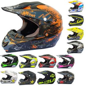 Motorradhelm-Crosshelm-Quad-Cross-Enduro-ATV-Race-Motocross-Offroad-Helm-rueger