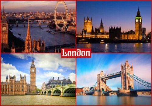 LONDON ENGLAND UK Travel Souvenir FRIDGE MAGNET #fm1