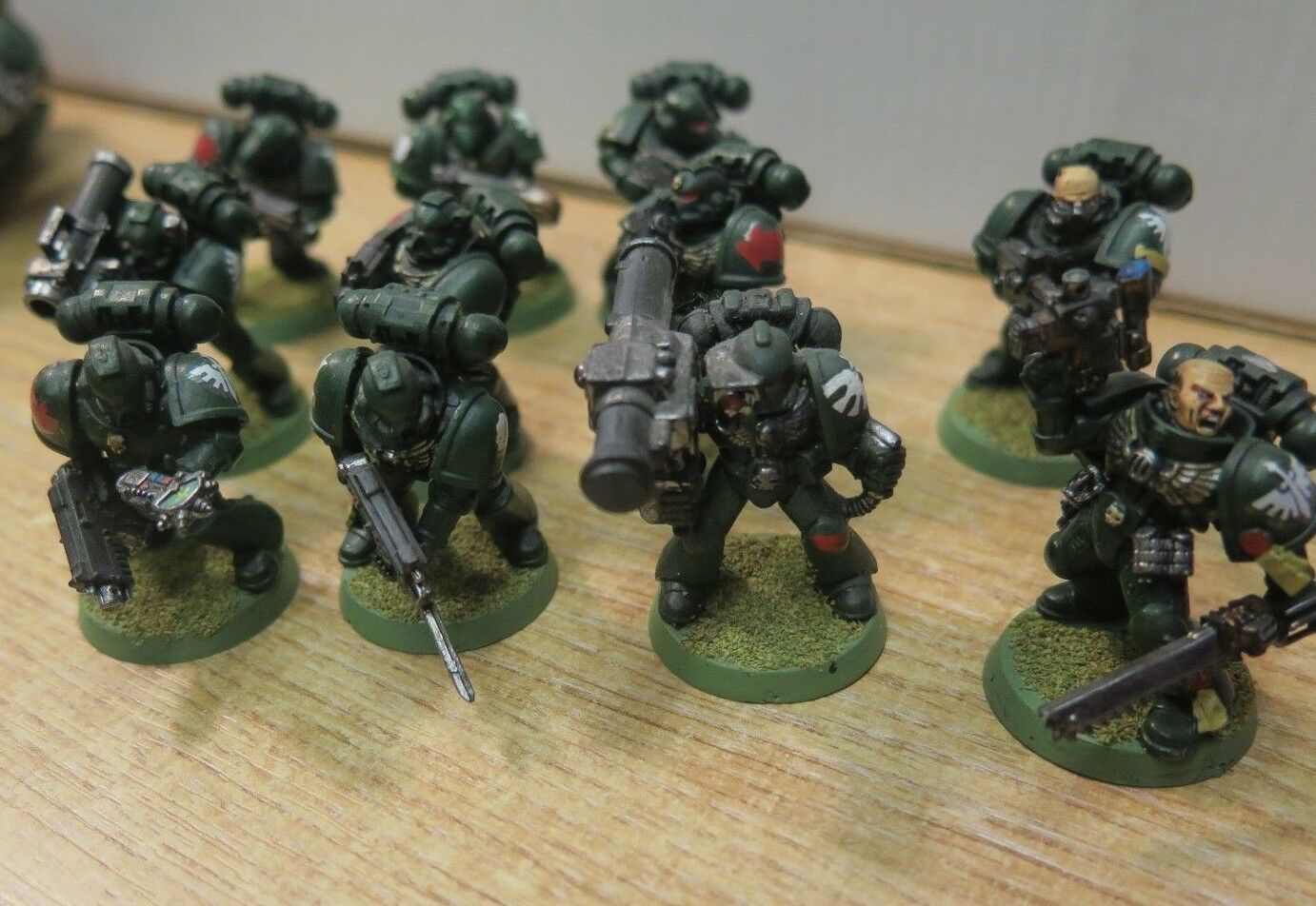 GW WARHAMMER 40K Dark Angels Space Marine Army - Pro-Painted Pro-Painted Pro-Painted 39ea26